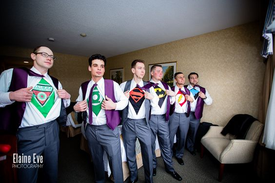 Super heroes at your wedding? Why not!