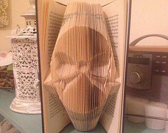 Buch Falzen Muster für 2 Herzen Liebe von BookFoldingForever