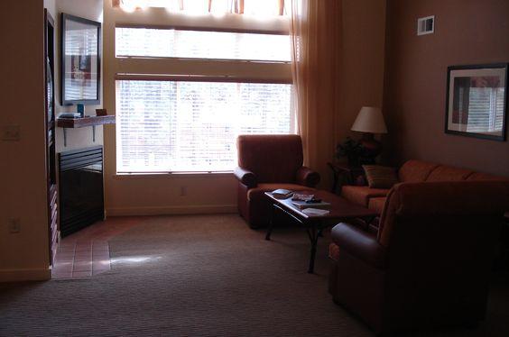 S. Lake Tahoe Worldmark.  Interior living room of a 3 bedroom unit.
