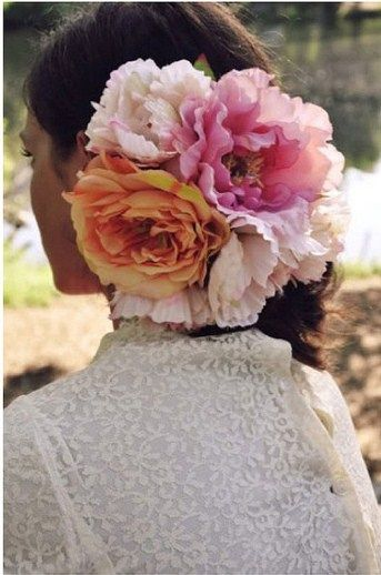 Beautiful roses for the head