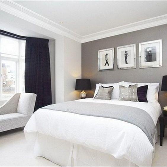 99 White And Grey Master Bedroom Interior Design 77