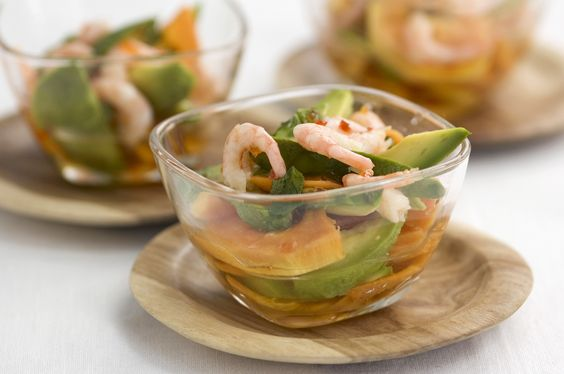 Prawn & Papaya with Tracklements Red Pepper & Chilli Jelly ...