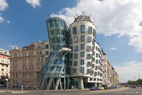 The Dancing House or Dancing Building or Ginger & Fred (Fred Astaire and Ginger Rogers) is the nickname given to the Nationale-Nederlanden building in downtown Prague, Czech Republic. The building was designed in 1992 and completed in 1996.