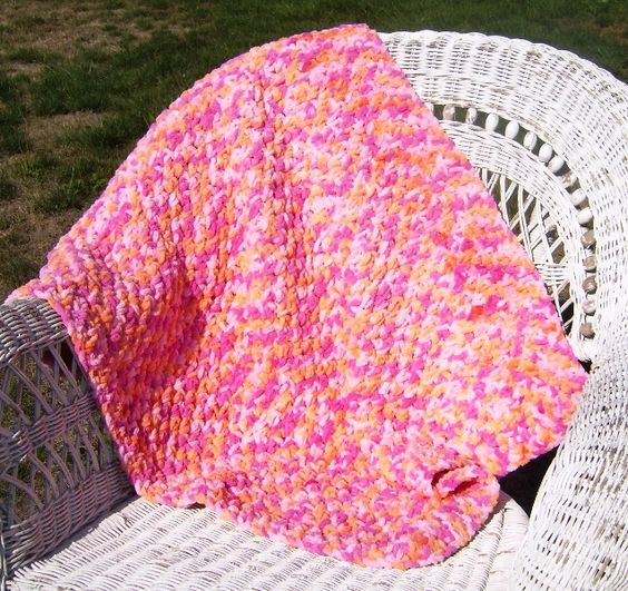 Knitting Patterns Bernat Blanket Yarn : Crochet Baby Blanket made with Bernat Baby Blanket yarn. My Crochet Pattern...