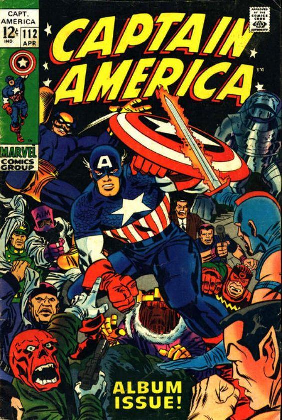 captain america comic book photos   Captain America #112 comic book from Marvel Comics Group