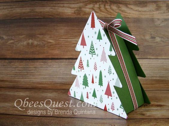 Christmas Tree Boxes Video Tutorial Stampin Up Ornamental Christmas Framelits Iconic Christmas Tree Stamp Set Gi Christmas Tree Box Tree Box Small Gifts