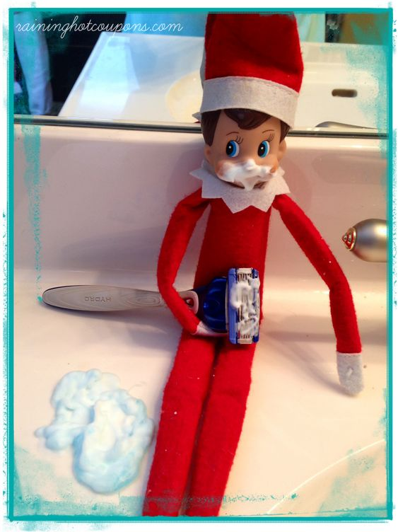 Elf on the shelf on the shelf and elves on pinterest for Elf on the shelf bathroom ideas