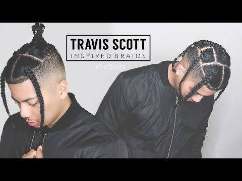 Travis Scott Inspired Braids Box Braids Tutorial Hd In 2020 Box Braids Men Box Braids Tutorial Braided Hairstyles