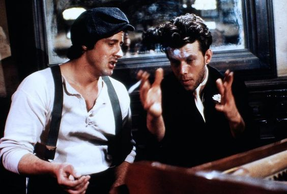 Sylvester Stallone and Tom Waits.