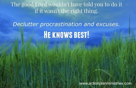 (2) Tips for success - Don't second-guess God & don't be lazy! #declutternow