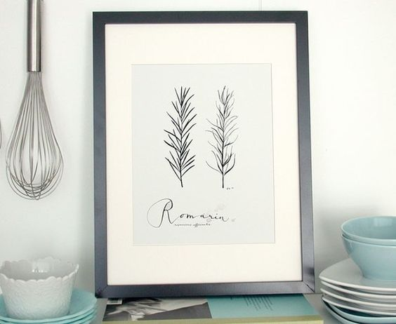 Rosemary in French Art for the Home Kitchen