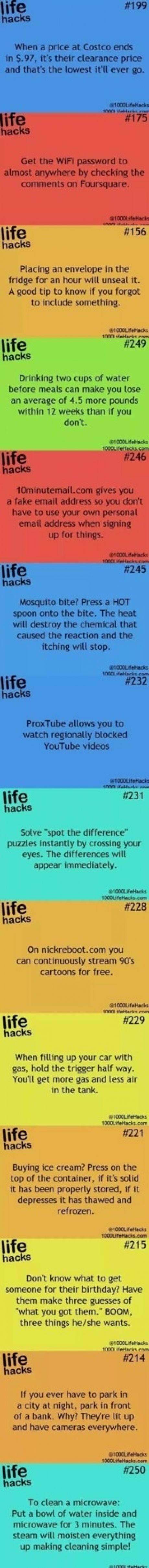 Life hacks: