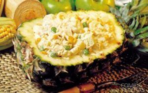 Receita de Maionese tropical no abacaxi