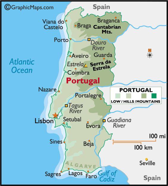 Ideas Map Of Almancil Algarve Portugal On Emergingartspdxcom - Portugal map silver coast