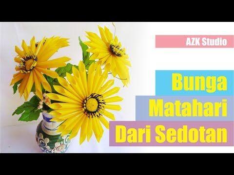Wow Menyulap Sedotan Bekas Menjadi Bunga Matahari Youtube Bunga Kreatif Batu Akik