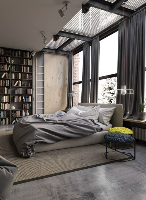 Concrete Wood Fabric Etc All Combined For An Interesting Space