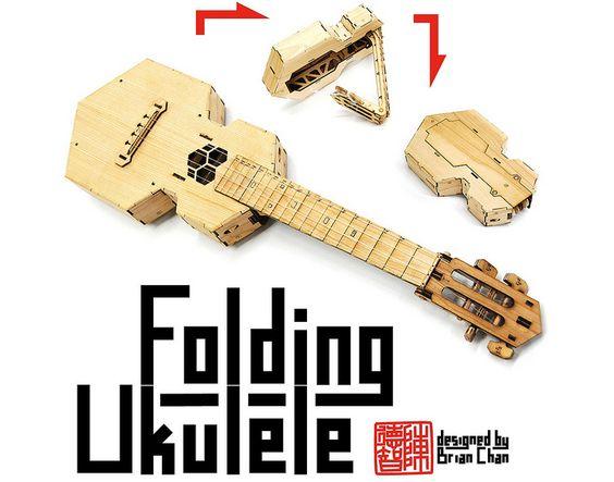 A folding ukulele!
