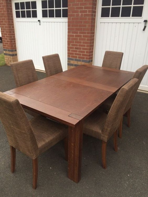 Marks Spencer Sonoma Dark Oak Dining Table 6 Chairs