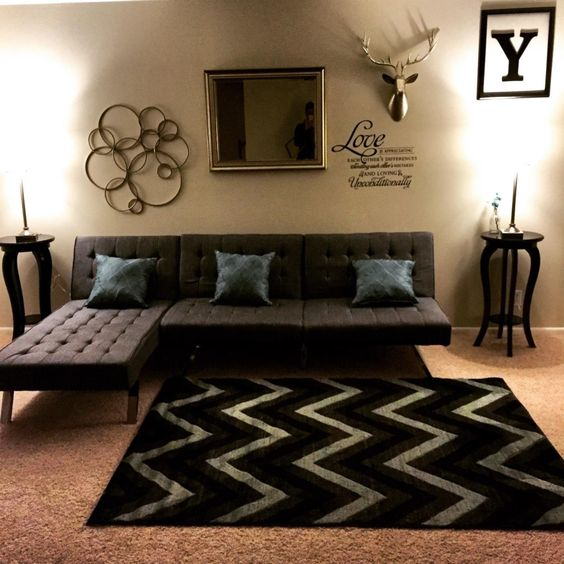 DHP Emily Splitback Futon, Black Furniture