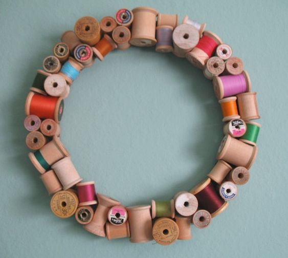"""Sewing room!  Totally going to make this with all those spools of thread """"they"""" tell you never to use in your sewing machine"""" but never want to toss either."""