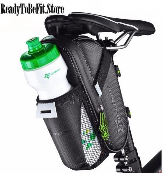 Cycling Bicycle Saddle Bag Pannier Bike Seat Bag Tail Storage Bottle Holder