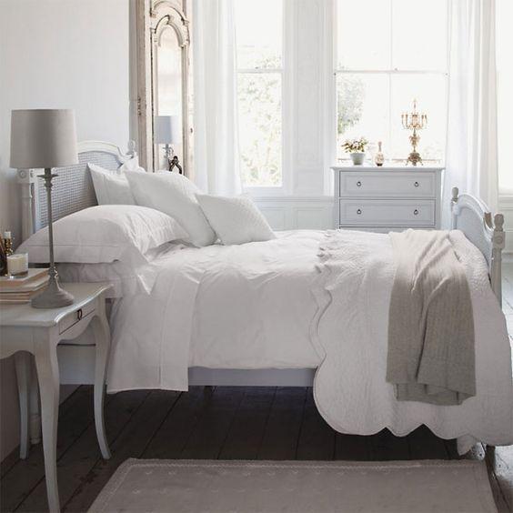 White bedroom idea, I love light and airy.