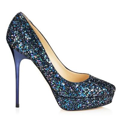 Jimmy Choo's Cosmic Petrol Multi-Glitter Platform Pumps will add a double dose of sparkle to your next evening soiree! More of our favorite accessories of the season here: http://balharbourshops.com/must-haves/womens-accessories