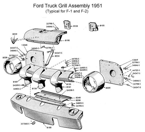 wiring for 1948 to 49 ford trucks ford trucks '48 '52 1952 Plymouth Wiring 1951 ford f5 wiring diagram