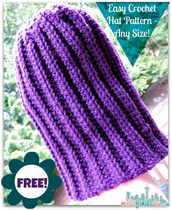 Crochet How To Video Free Hat Pattern For Using Up Scrap Yarn