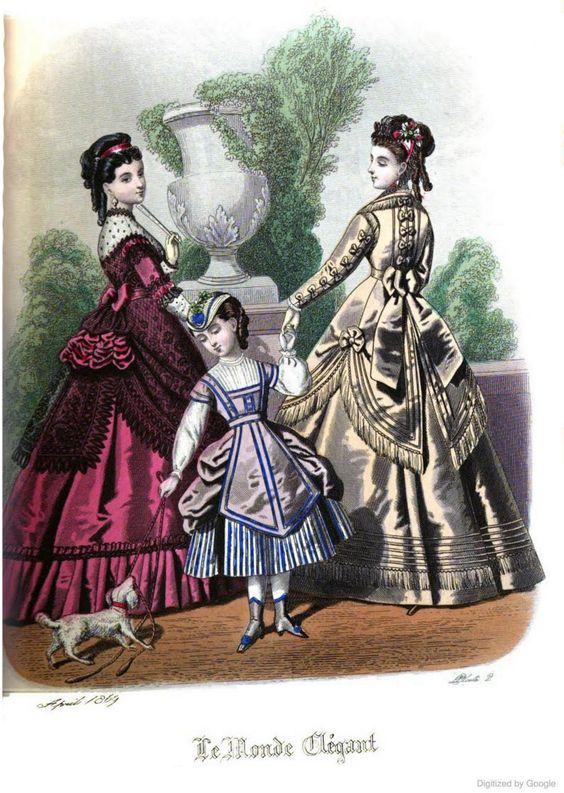 Le Monde Elégant 1869 April