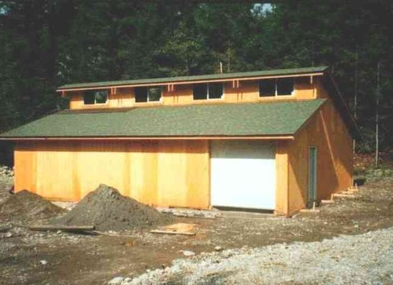 Overhang over clerestory windows looks more finished for House plans with clerestory windows
