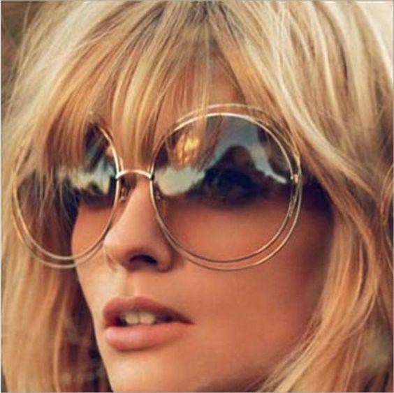 TSHING Vintage Oversized Round Sunglasses