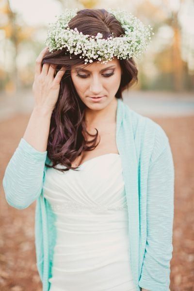 Baby's Breath Flower Crown from Colonial House of Flowers. Statesboro Georgia. Seniors. Weddings. Photoshoots.: