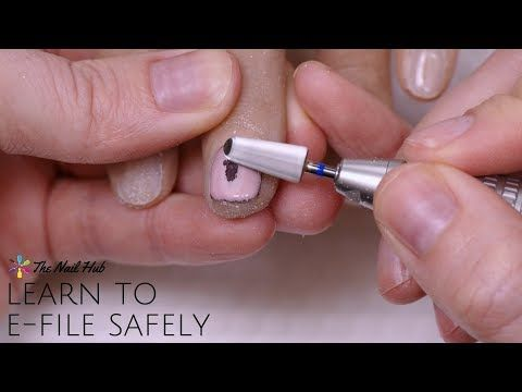 How To E File Youtube Acrylic Nails At Home Nail Equipment Dipped Nails