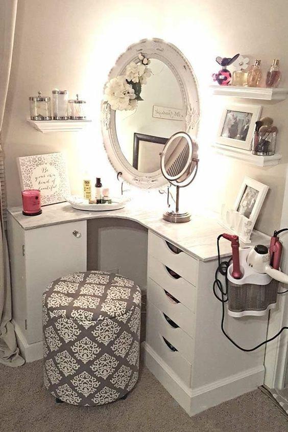 Dressing Table Makeup Home Decoration Small Room Mirror Stool Bedroom Cloakroom Bathroom Diy Home Design Room Decor Small Room Design Bedroom Vanity