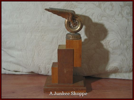 WINGED WHEEL 1957 County Fair Automobile 2nd Place Car Racing Trophy   Junk0919  http://ajunkeeshoppe.blogspot.com/