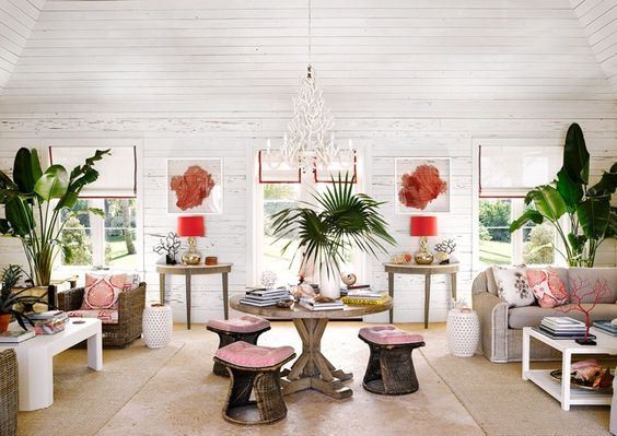 Punches of red | Location: Residences at The Dunmore, Harbour Island #Bahamas | Design: Alessandra Branca