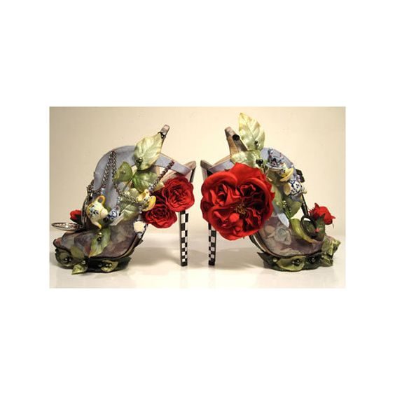 Alice in Wonderland Stilettos are quirky and unique | Gizmodiva.com found on Polyvore
