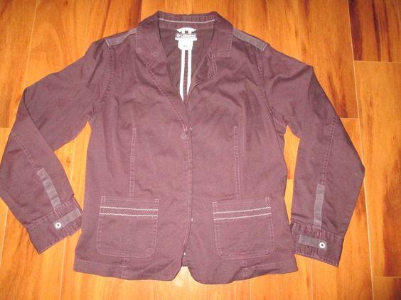 Columbia Sportswear Women's Burgundy jacket size M #Columbia #JeanJacket