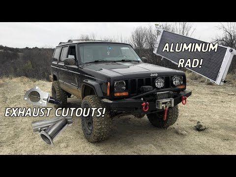 1999 Jeep Cherokee Xj Radiator And Exhaust Cutout Install Youtube Jeep Cherokee Xj 1999 Jeep Cherokee Jeep Cherokee