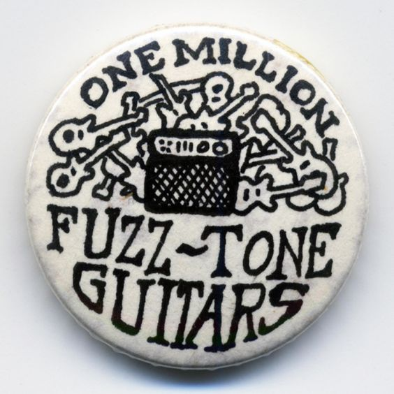 One Million Fuzztone Guitars 'Guitar Amp' Badge from the early 1980's