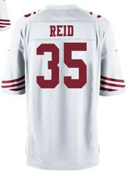 "$78.00--Eric Reid White Elite Jersey - Nike Stitched San Francisco 49ers #35 Jeresey,Free Shipping! Buy it now:click on the picture, than click on ""visit aliexpress.com"" In the new page."