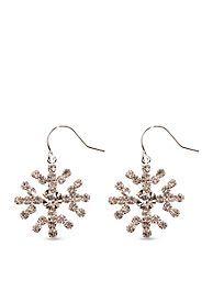 Kim Rogers® Rhinestone Snowflake Earring