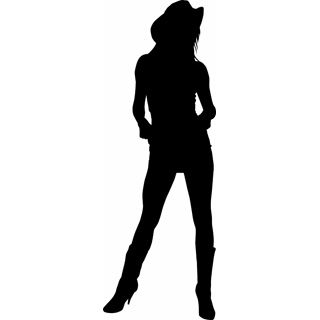 Free Cowgirl Silhouette Clip Art Silhouette Pinterest