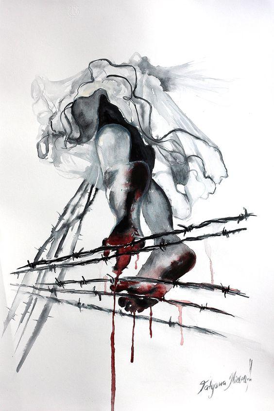 Aquarell-Druck. Wand Kunst Portrait Mädchen zu von TatyanaIlieva