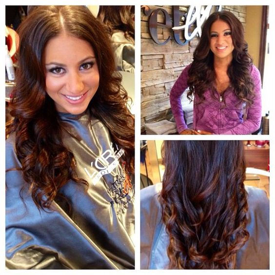 Fitness competition hair / curly long hair