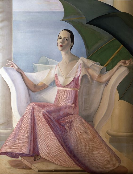Painting of Diana Vreeland by William Acton.: