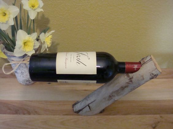 Wooden Wine Holder by WoodAndMoon on Etsy