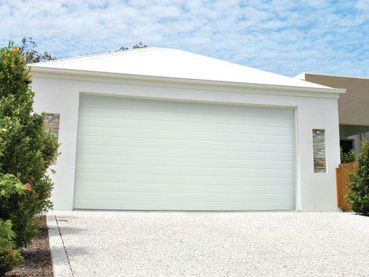 Colorbond Garage Door Slimline Profile Surfmist Colour Garage Doors Garage Door Colors House Exterior
