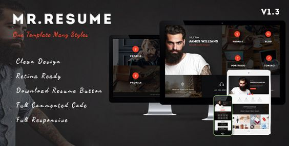 Morgan - Resume, vCard, Personal, Profile and Portfolio WP Theme - personal website resume